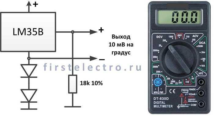 Простой цифровой термометр своими руками с датчиком на lm35 53